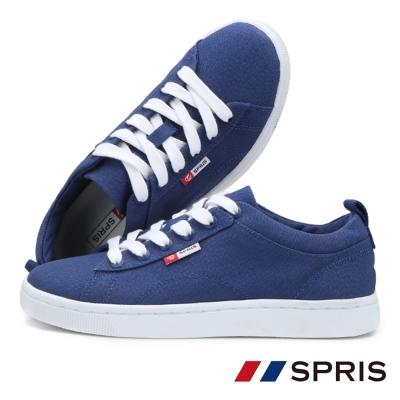 周子瑜TWICEx韓國SPRIS 聯名鞋款 TEENS綁帶帆布鞋系列-深藍