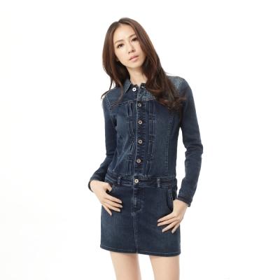 Lee 101+ 連身洋裝 長袖牛仔 -女款(深藍)