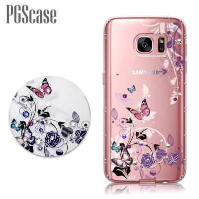 PGS Samsung Galaxy S7 edge 奧地利彩鑽防摔手機鑽殼-蝶...
