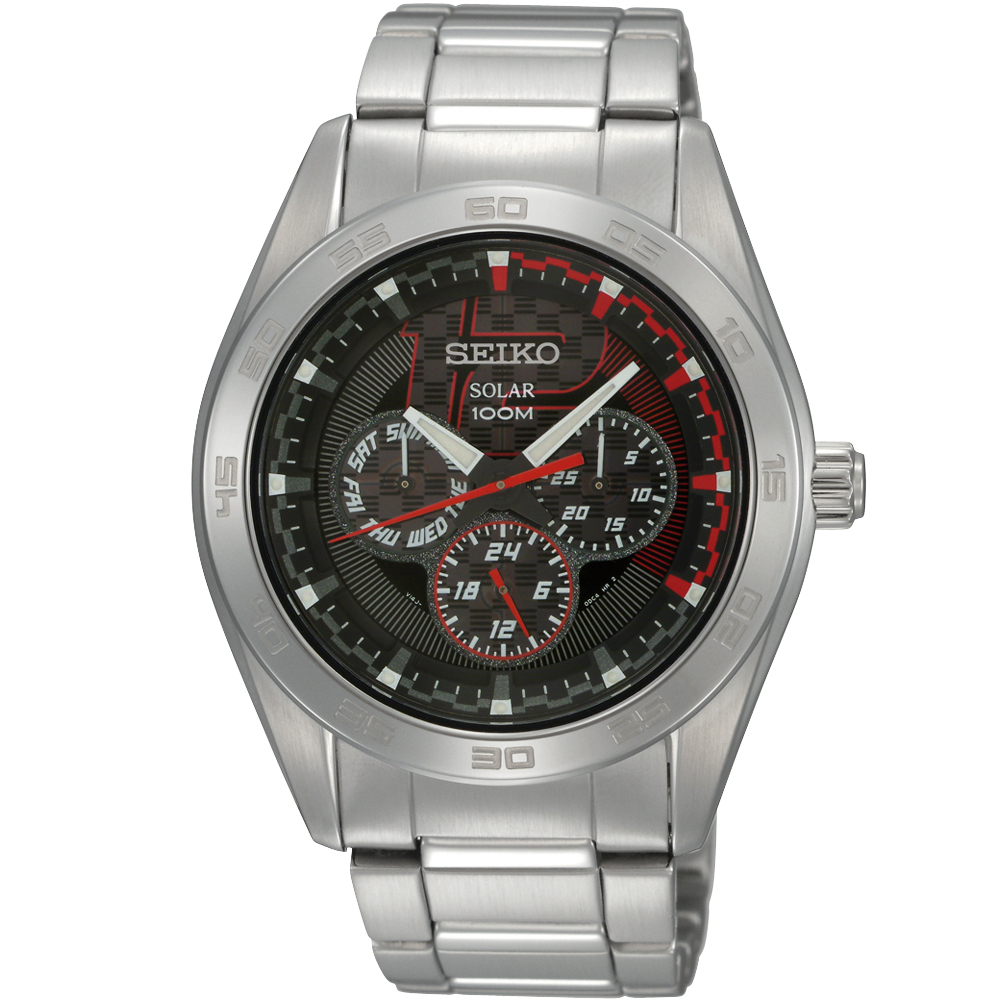 SEIKO criteria 日系魅力時尚腕錶-黑/42mm V14J-0BS0D(SNE195P1) product image 1