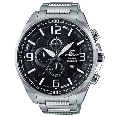 EDIFICE超大表面設計城市科技感賽車錶(EFR-555D-1A)-黑面55mm