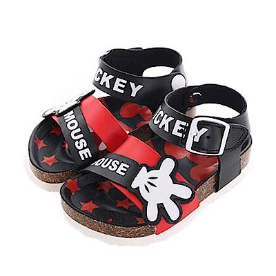 迪士尼米奇休閒涼鞋 黑紅 sk0422 魔法Baby