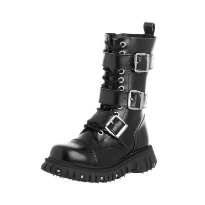 TUK 經典12孔軍靴-黑
