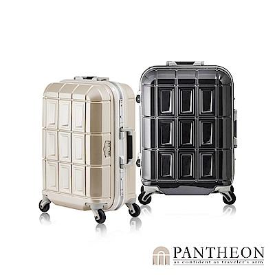 日本PANTHEON 19吋 經典黑 網美行李箱 輕量鋁框登機箱
