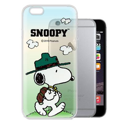 史努比/SNOOPY iPhone6s / 6 4.7吋 漸層彩繪軟式手機殼(郊...