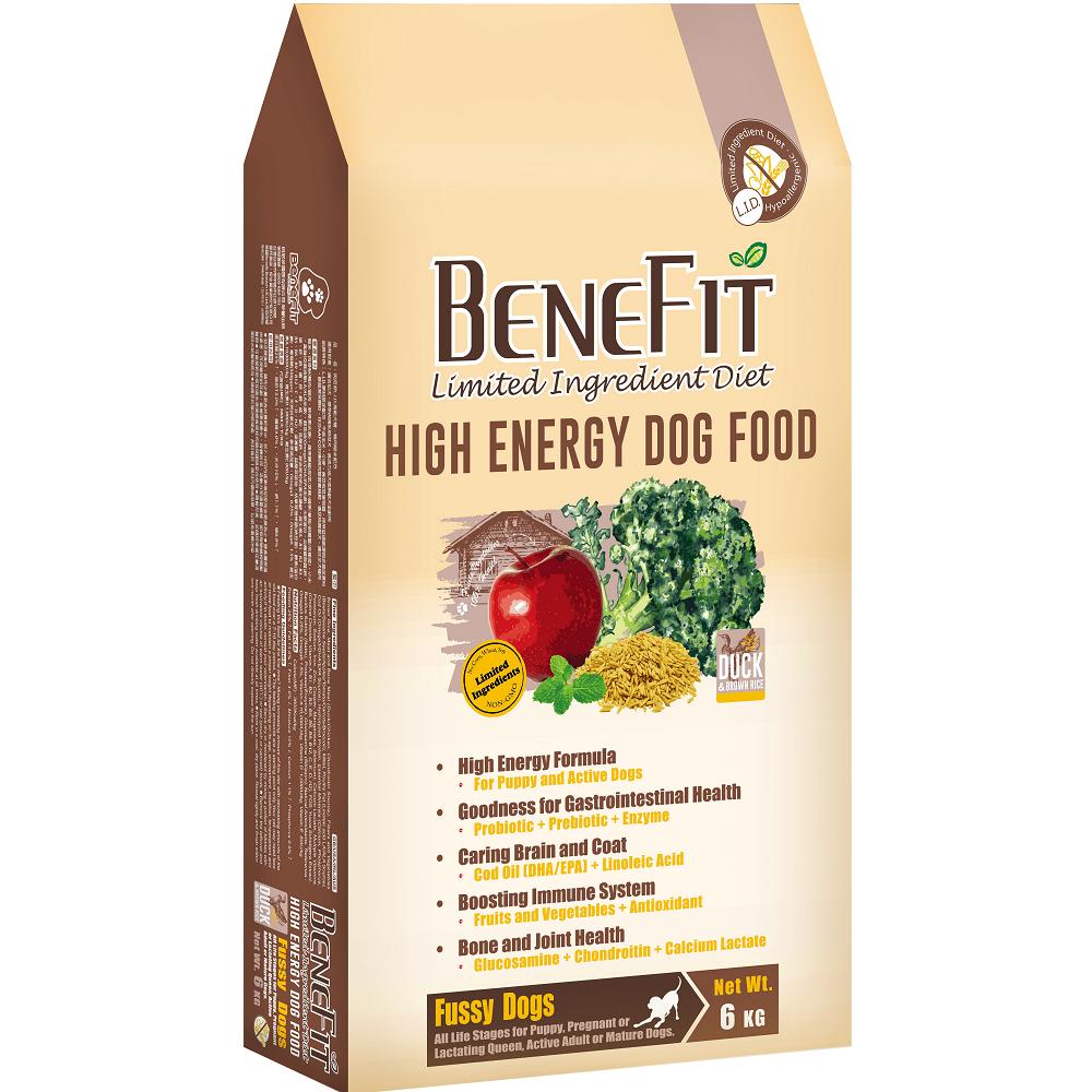 BENEFIT斑尼菲L.I.D. 高能犬糧 6kg 鴨肉糙米配方