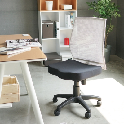 完美主義 無扶手透氣網背辦公椅/電腦椅/低背曲線(8色)