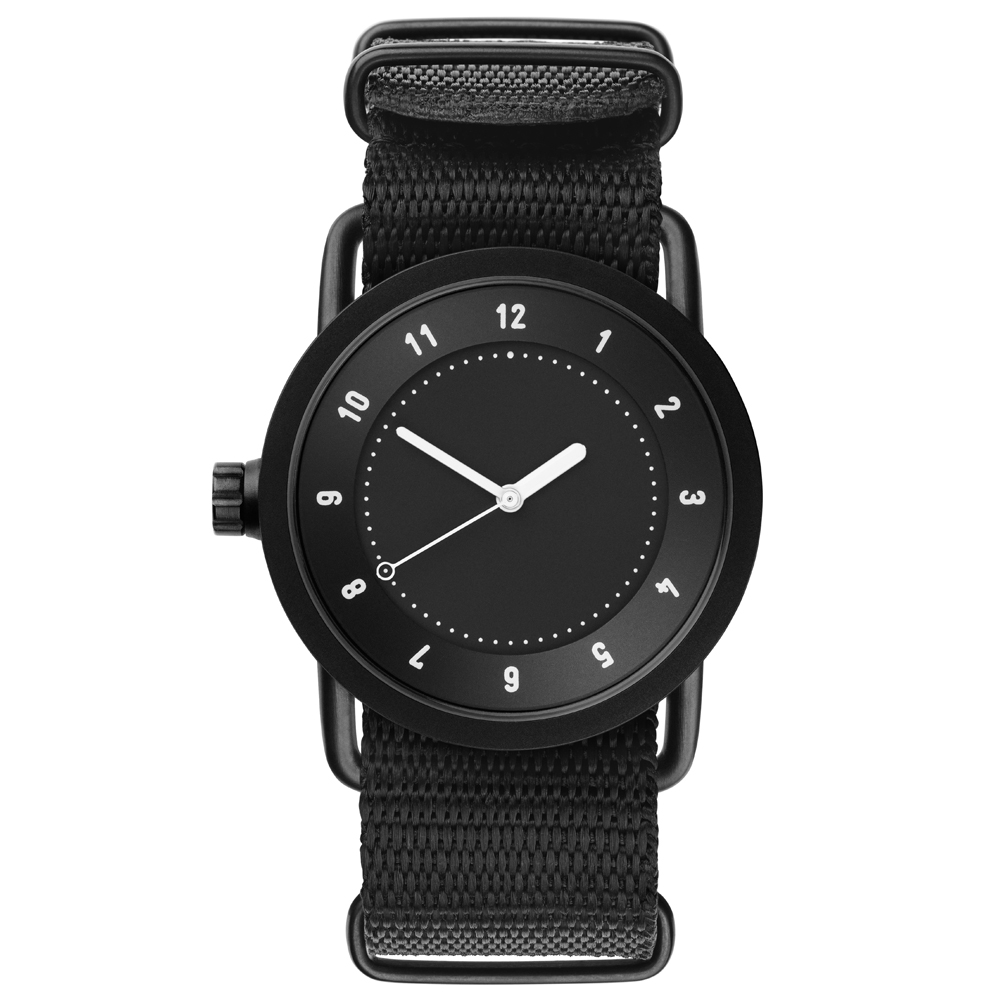 TID Watches No.1 Black-黑x經典尼龍帶腕錶/36mm