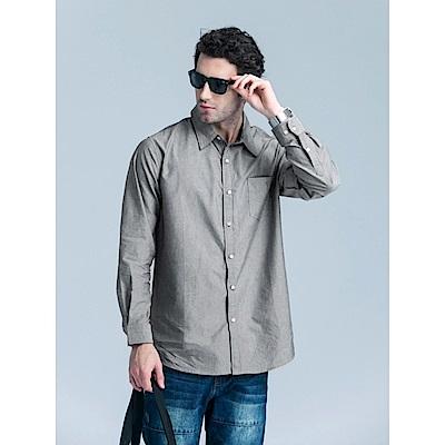 織帶配色造型長袖襯衫‧3色-OB大尺碼
