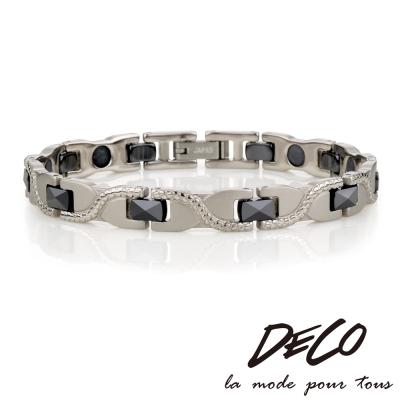 DECO X MASSA~G~冷冽風範~黑色陶瓷純鈦手環