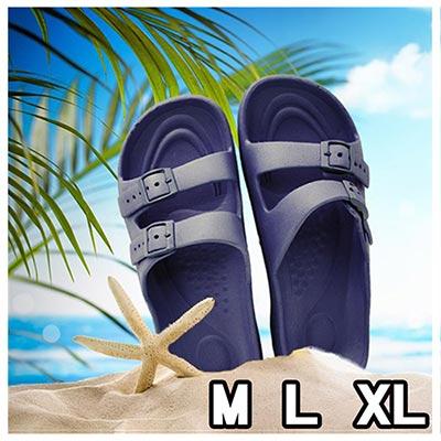 MRX 超輕盈室內外止滑休閒拖 深海藍