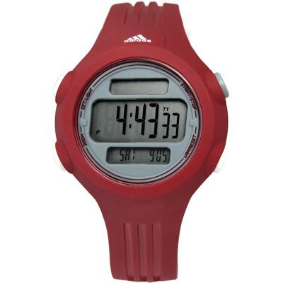 adidas 愛迪達 Performance衝刺任務運動電子腕錶-灰x紅/41mm
