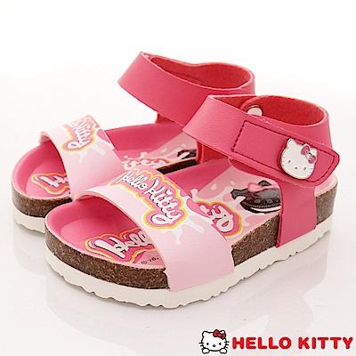 HelloKitty童鞋 餅乾造型軟木涼鞋款 EI18135桃(小童段)