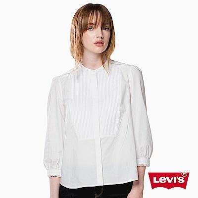 Levis 襯衫 女裝 七分袖 緞面袖口
