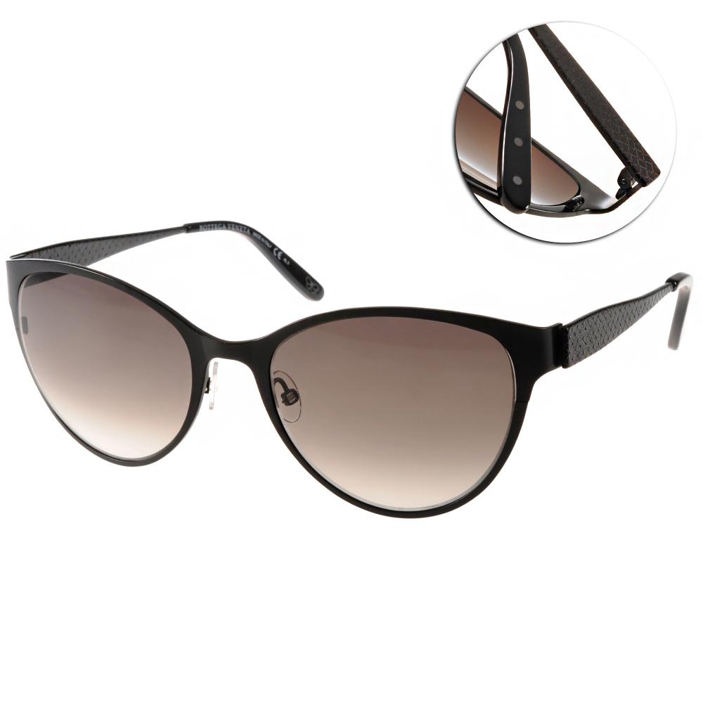 BOTTEGA VENETA太陽眼鏡 質感貓眼/黑#BV261S 4EXJS