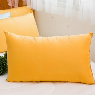 日本馬卡龍羽絲絨發熱枕2入~鵝黃+水藍色