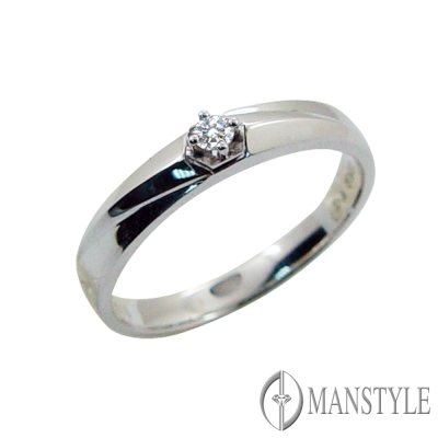 MANSTYLE DIAMOND「今生相伴」0.04ct 南非天然鑽戒