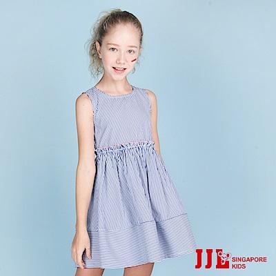 JJLKIDS 簡約經典條紋無袖洋裝(藍白條)