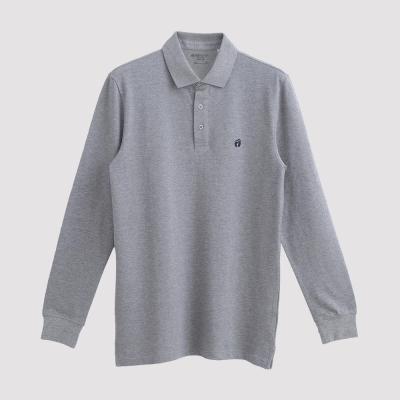 Hang Ten - 男裝 - 經典美式純色POLO衫 -灰