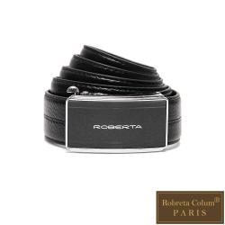 Roberta Colum - 紳士們品味碳纖自動金屬滑扣牛皮皮帶