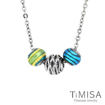 TiMISA 波紋 純鈦串飾 項鍊