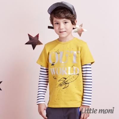 Little moni 火箭外太空拼接棒球上衣 (共2色)