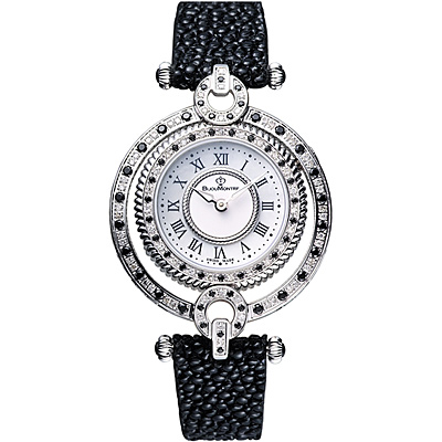 BijouMontre寶爵潘朵拉寶盒真鑽寶石腕錶Pandora`s Box-白/32mm