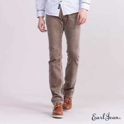 Earl Jean燈芯絨低腰合身窄管褲-卡其
