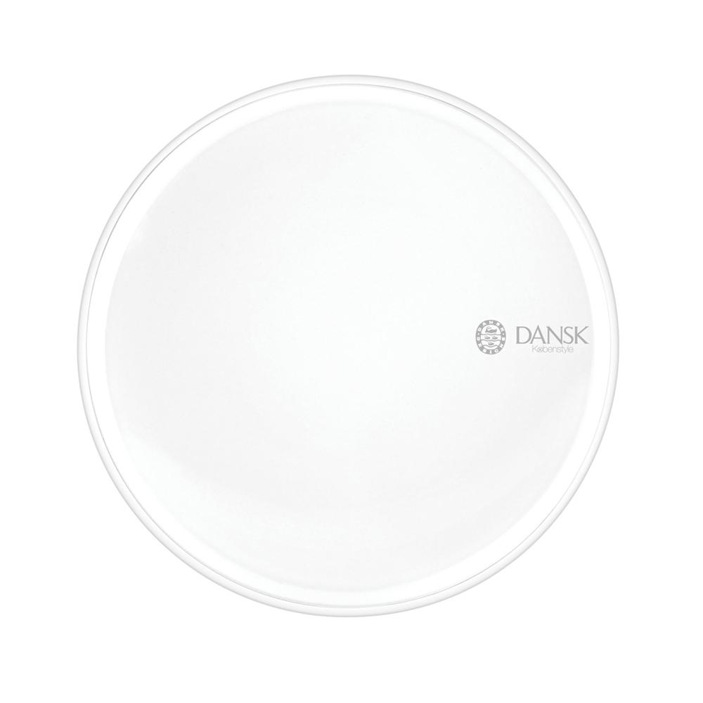 DANSK 琺瑯材質餐盤21cm-(白色)
