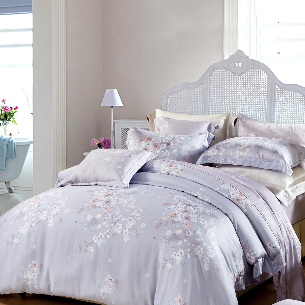 Saint Rose 繁花若夢 特大100%純天絲兩用被套床包四件組