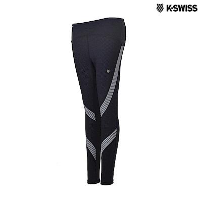 K-Swiss Emboss Tights運動內搭褲-女-黑