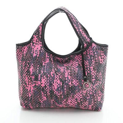 YUCCA - 國際潮流配色手工編織包-紫紅色- D0118012C85