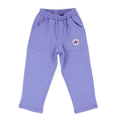 愛的世界 SUPERKIDS 純棉鬆緊帶寬口袋長褲/S號
