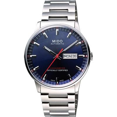 MIDO Commander II 天文台認證機械腕錶-藍/40mm