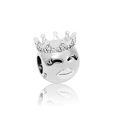 Pandora 潘朵拉  公主鑲鋯皇冠造型 純銀墜飾 串珠