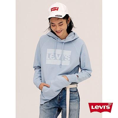 帽T 女裝 淺藍LOGO - Levis