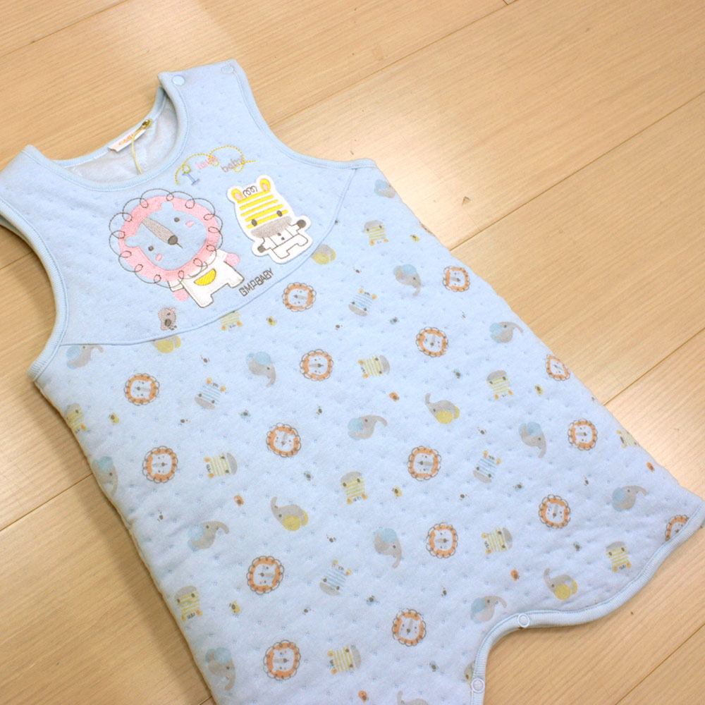 GMP BABY 純棉動物夾棉嬰兒睡袍 藍色1件
