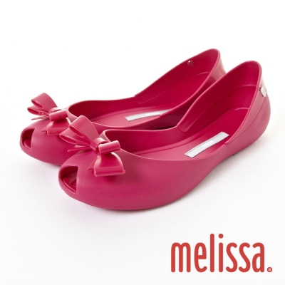 MELISSA-夢幻蝴蝶結娃娃鞋-粉紅