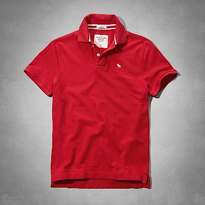 AF a&f Abercrombie & Fitch POLO 紅色 0769
