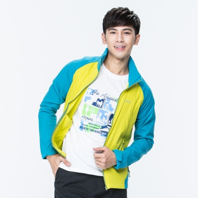 【ATUNAS 歐都納】男款防曬/防潑水/可收式連帽輕薄外套A-G1703M黃綠藍