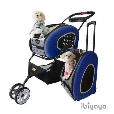 IBIYAYA依比呀呀-FS1009五彩繽紛寵物推車提包組-寶藍