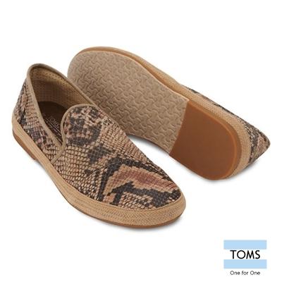 TOMS 蛇紋滾邊懶人鞋-男款(蛇紋)
