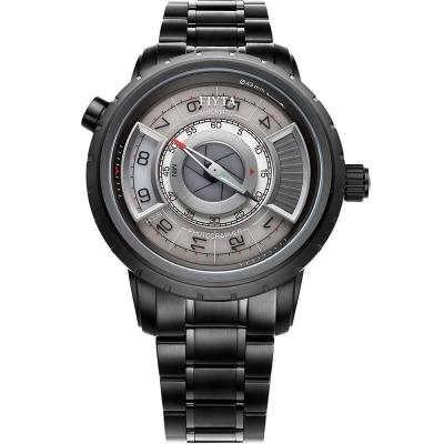 FIYTA 飛亞達 攝影師復刻機械錶(GA8490.BBB)-黑色/42mm