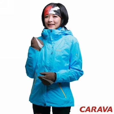 CARAVA 《女款防水透氣外套 兩件式》(天藍)