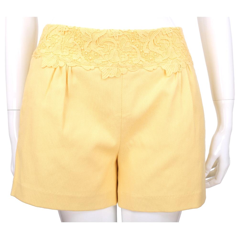 SCERVINO 黃色織花設計短褲