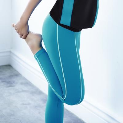 推Audrey-樂活瑜珈 運動型長褲(孔雀藍)