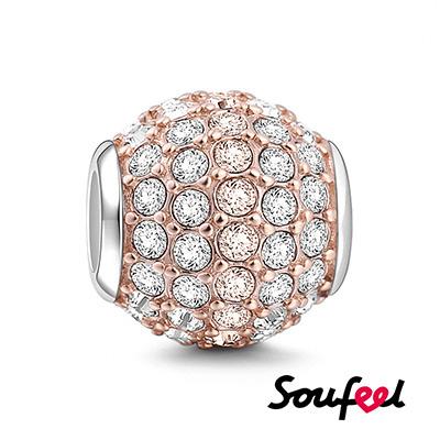 SOUFEEL索菲爾 925純銀珠飾 無限光芒 串珠(玫瑰金)