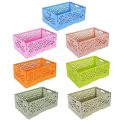 居家達人 創意摺疊式萬用收納盒/置物籃 任選2件