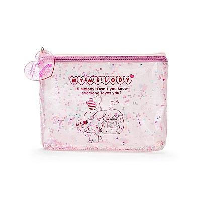 Sanrio 美樂蒂草莓遊園地系列PVC防水扁平透明收納包/化妝包