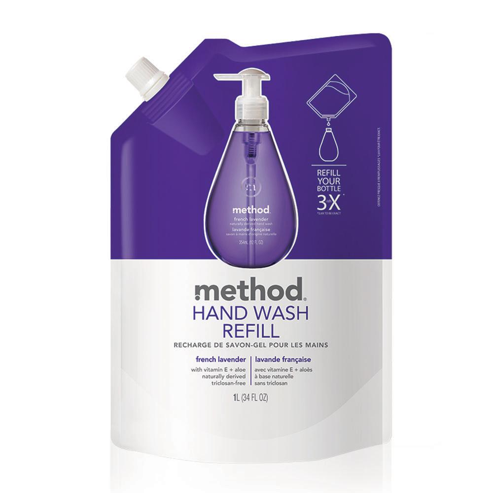 Method美則 法式薰衣草天然洗手乳(補充包) 1000ml